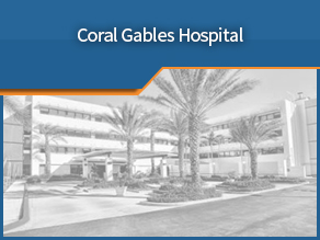 Exterior shot of Coral Gables Hospital. First location.