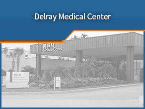 Exterior shot of Delray Medical Center. Second location.