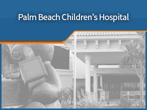 Exterior shot of Palm Beach Children's Hospital. Seventh location.