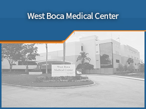 Exterior shot of West Boca Medical Center. Eleventh location.