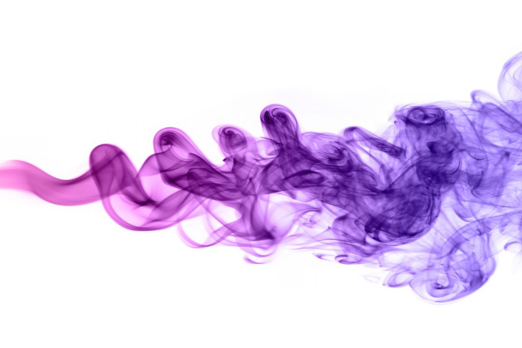 A swirl of fog in different shades of purple.